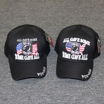 Wholesale Licensed US Military Hats Caps - MI-617a POW MIA - Some Gave All  US Flag Background