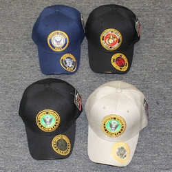 Wholesale Licensed US Military Hats Caps - MI-626 Military Circle EMB Cap [Color Seal On the Visor]