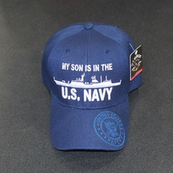 Wholesale Licensed US Military Hats Caps - MR-587a My Son Is In The US Navy -  Battle Cruiser