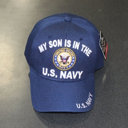 Wholesale Licensed US Military Hats Caps - MR-587b My Son Is In The Navy - Circle Patch