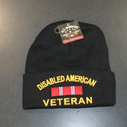 Wholesale Licensed US Military Hats Caps - MW-011d Disabled (American) Vet Skull Cap