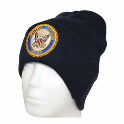 Wholesale Licensed US Military Hats Caps - MW-014 U.S. Navy Winter Skull Cap