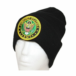 Wholesale Licensed US Military Hats Caps - MW-015 U.S. Army Circle Patch Winter Skull Cap