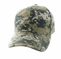 Wholesale Men's Women's Adult Blank Hats and Caps in Bulk For Embroidery - Baseball Velcro Cap (Solid Digital Camo) - VP019