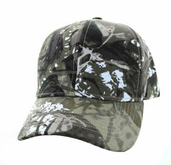 Wholesale Men's Women's Adult Blank Hats and Caps in Bulk For Embroidery - Baseball Velcro Cap (Solid Hunting Camo) - VP019