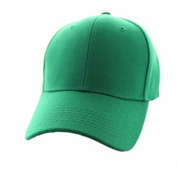 Wholesale Men's Women's Adult Blank Hats and Caps in Bulk For Embroidery - Baseball Velcro Cap (Solid Kelly Green) - VP019