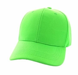 Wholesale Men's Women's Adult Blank Hats and Caps in Bulk For Embroidery - Baseball Velcro Cap (Solid Lime) - VP019