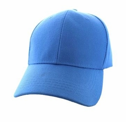 Wholesale Men's Women's Adult Blank Hats and Caps in Bulk For Embroidery - Baseball Velcro Cap (Solid Sky Blue) - VP019