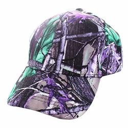 Wholesale Men's Women's Adult Blank Real Tree Hats and Caps in Bulk For Embroidery - Blank Baseball Velcro Cap #4 (Solid Hunting Camo) - VP022