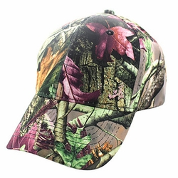 Wholesale Men's Women's Adult Blank Real Tree Hats and Caps in Bulk For Embroidery - Blank Baseball Velcro Cap #5 (Solid Hunting Camo) - VP022
