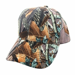 Wholesale Men's Women's Adult Blank Real Tree Hats and Caps in Bulk For Embroidery - Blank Baseball Velcro Cap #6 (Solid Hunting Camo) - VP022