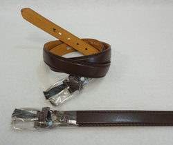 Wholesale Clothing Apparel Leather Belts Bulk - BLT112BR. Belt--Thin Brown [All Sizes]