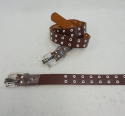 Wholesale Clothing Apparel Leather Belts Bulk - BLT114BR. Belt--Wide Brown [Small Holes] All Sizes