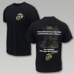 Wholesale Clothing, Military T Shirts - Marines Make Difference Reagan Quote T-Shirt