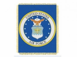 Wholesale Military Merchandise Patriotic Veterans Bulk Suppliers - AIR FORCE THROW BLANKET