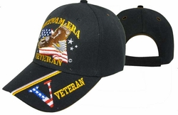 Wholesale Military Logo Embroidered Baseball Hats Caps Bulk Cheap Licensed - CAP607E Veteran Era Vet Cap