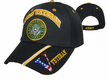 Wholesale Clothing, T Shirts Hats Wholesale Bulk Supplier Clothing Apparel Military - Army Veteran Emblem Cap - CAP591B
