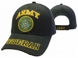Wholesale Clothing, Shop Hats Wholesale Bulk Military - CAP591DA Army Emblem Veteran Shadow Cap