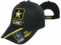 Wholesale Headwear, Army Hats, Wholesale Hats, Men's Hats, Military Hats - CAP601L ARMY Star  US Army Bill Cap