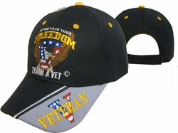 Wholesale US Military Hats, Wholesale Military Caps - CAP606 Love Freedom Cap