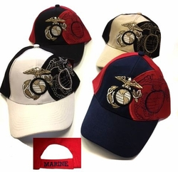US Marine Corps Military Hats and Caps - Wholesale Bulk -ECAP271b. Military Embroidered Twill Cap