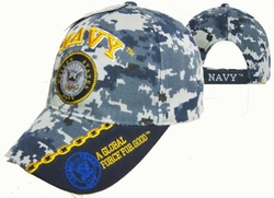 Wholesale Military Logo Embroidered Baseball Hats Caps Bulk - CAP602MC NAVY