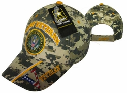 Wholesale Military Logo Embroidered Baseball Hats Caps Bulk - CAP591BC Army Veteran