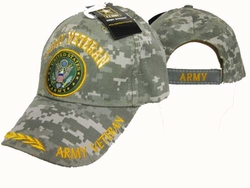 Wholesale Military Logo Embroidered Baseball Hats Caps Bulk Cheap Licensed - CAP591AC Army Vet