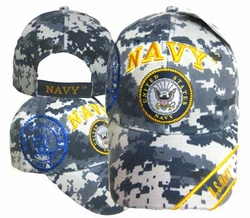 Wholesale Military Logo Embroidered Baseball Hats Caps Bulk - CAP602TC NAVY