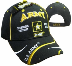 Army Apparel Military Wholesale T Shirts Embroidered Logo Baseball Hats Caps Bulk Suppliers - CAP595E ARMY Logo Defend Freedom Cap
