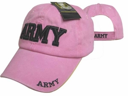 Clothing Caps Hats Wholesale Bulk Supplier Clothing Apparel Military - CAP601DP ARMY Cap Pink color