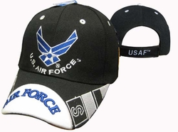 Wholesale Products - Air Force Apparel Military Wholesale T Shirts Embroidered Logo Baseball Hats Caps Bulk Suppliers - CAP603UB AF Wings Air Force Bill