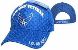 Wholesale Clothing, T Shirts Hats Wholesale Bulk Supplier Clothing Apparel Military - CAP593H AF Wings Veteran Cap