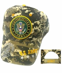 Wholesale Military Patriotic Hats and Caps Suppliers - ECAP366CamoB. Military Embroidered Acrylic Cap