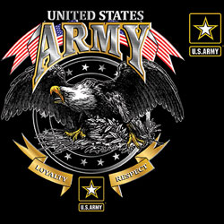 U.S. Army Wholesale T-Shirts Military Suppliers - US ARMY LOYALTY RESPECT EAGLE 19962D1