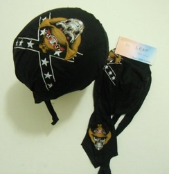 Wholesale Products Bulk Suppliers - BN219. Skull Cap-Rebel Cowboy Skull