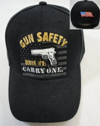 Hats Caps Wholesale Products Gifts Supplier Bulk - HT364. Gun Safety Rule #1 Carry One Hat