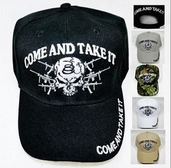 Wholesale Products Gifts Supplier Bulk - HT391. COME AND TAKE IT Hat [Skull & Guns]