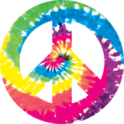 Tie Dye Peace Sign T Shirts Wholesale Bulk Supplier - 12912NBT4