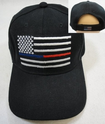 Wholesale Hats, Firefighter Police Hats Wholesale Bulk Supplier - HT790. Thin Blue and Red Line Hat