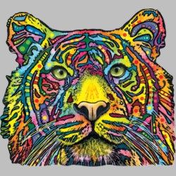 Wholesale Products - Tiger Neon T Shirts Graphic Funny Clothing in Bulk - 18488NBT4