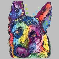 Wholesale Products - German Shepherd Dog Pet Neon T Shirts Graphic Funny Clothing in Bulk - 18493NBT4