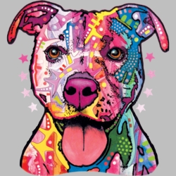 Wholesale Products - Pit Bull Neon T Shirts Graphic Funny Clothing in Bulk - 18495NBT4
