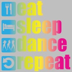Wholesale Products - Eat Sleep Dance Neon T Shirts Graphic Funny Clothing in Bulk - 19022NBT2