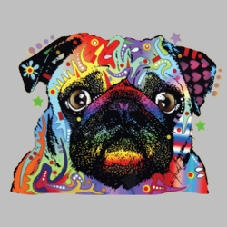 Wholesale Products - Pug Dog Pet Neon T Shirts Graphic Funny Clothing in Bulk - 19050NBT2
