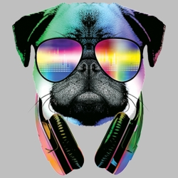Wholesale Products - Pug Sunglasses Neon T Shirts Graphic Funny Clothing in Bulk - 19704NBT2