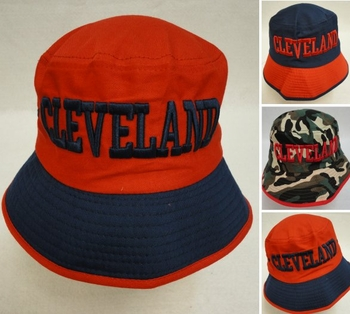 Wholesale Products New For Resale - HT1083. Bucket Hat [CLEVELAND C] Navy Red