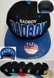 Wholesale Products New For Resale - HT23. Snap Back Flat Bill Hat [Bad Boy] Textured Bill