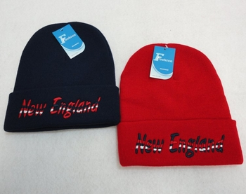 Wholesale Products New For Resale - WN831. Knitted Toboggan [Wavy NEW ENGLAND]