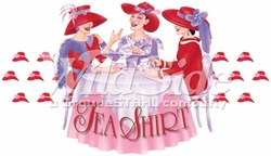 Wholesale Red Hat T-Shirts Bulk Sale - p-22381-11176-11x6-tea-shirt-three-women-red-hats-table[1]